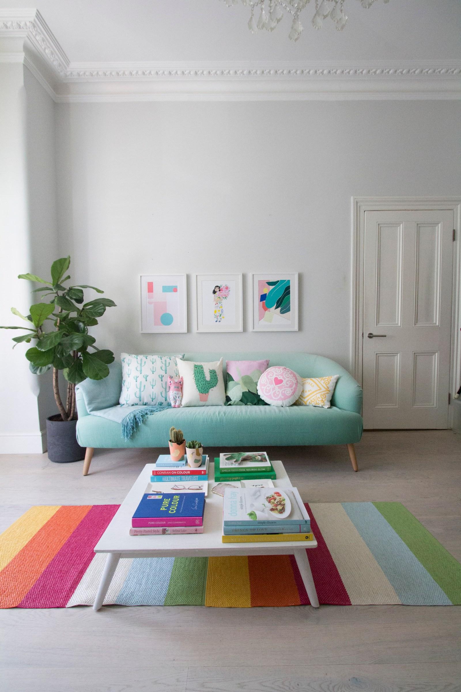 Phong cách nội thất Retro màu sắc, tươi vui